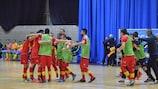 Montenegro faz a festa depois de bater a Suécia e garantir um lugar na fase principal
