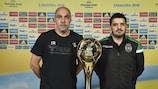 Javi Rodríguez (Györ) y Nuno Dias (Sporting CP)