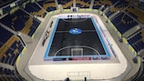 Almaty Arena ahead of the 2017 finals