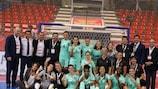 Portugal festeja o apuramento para a fase final do primeiro EURO Futsal Feminino da UEFA da história