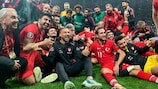 Turkey celebrate confirming their place at UEFA EURO 2020