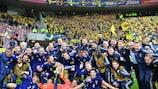 La Svezia festeggia la qualificazione a EURO