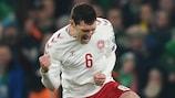 L'esultanza del danese Andreas Christensen al fischio finale