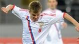 Oleg Shatov qualifizierte sich mit Russland für die UEFA-U21-Europameisterschaft