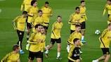 Les joueurs du Borussia Dortmund à l'entraînement