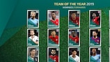 UEFA.com fans' Team of the Year 2019: stats breakdown