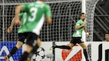 Rafael Bastos celebra un gol ante el Braga