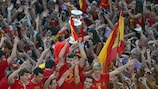 Spain brought 20 UEFA national-team trophies back home