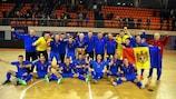 Moldova celebrate topping their group