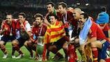 Spanien feiert die erfolgreiche Titelverteidigung 2012