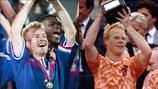 France's Didier Deschamps and Netherlands' Ronald Koeman as EURO-winning players