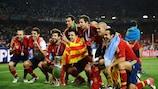 La grande équipe d'Espagne, la seule à conserver le trophée Delaunay, c'était en 2012