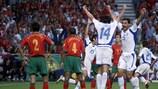 A Grécia venceu o UEFA EURO 2004 diante do anfitrião Portugal