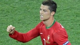 Portugal's Cristiano Ronaldo was one of six players to score three times at UEFA EURO 2012