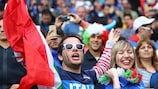 Italy fans support their team at UEFA EURO 2016