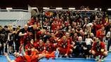 Belgium celebrate topping their group