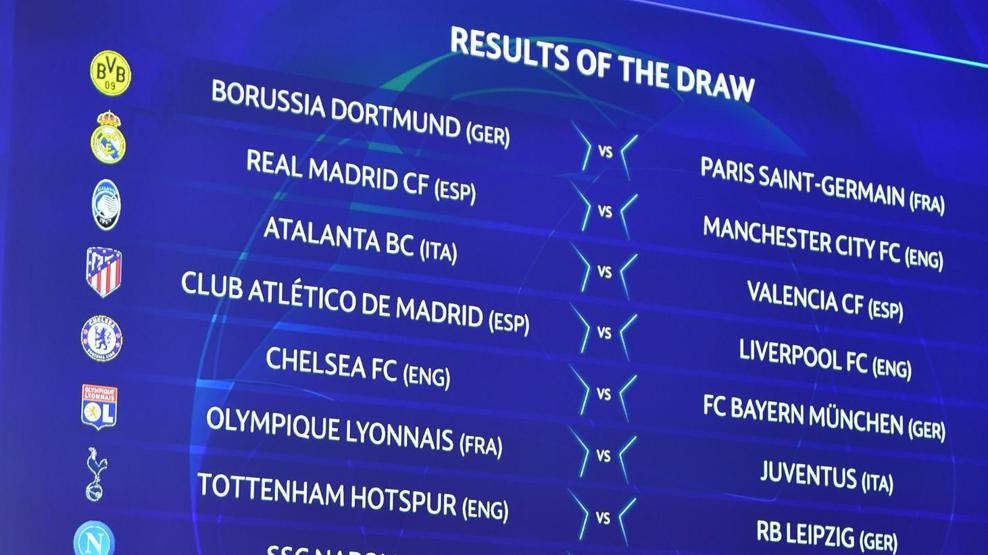 champions league round of 16 draw madrid v city dortmund v paris atletico v liverpool uefa champions league uefa com champions league round of 16 draw