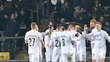 LASK celebrate their Matchday 6 win against Sporting CP