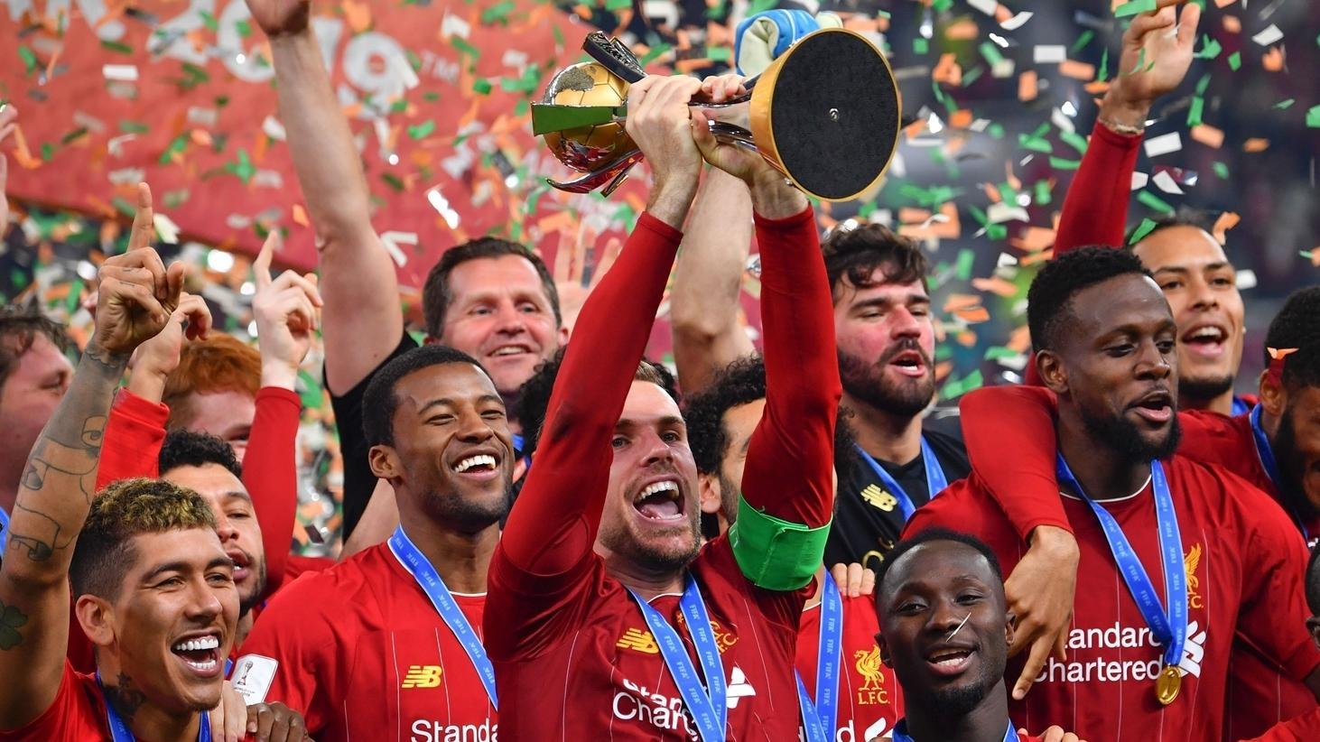 Барселона празднует победу на клубном чемпионате мира видио
