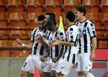 Udinese celebrate a Serie A goal