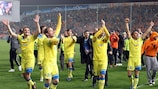 APOEL after their landmark round of 16 success against Lyon