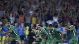 Ludogorets fête sa victoire contre le Steaua, qui lui offre ce premier match à domicile en phase de groupes