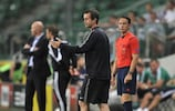 Celtic manager Ronny Deila on the touchline in Warsaw last month