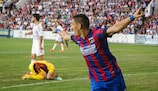 Claudiu Keșerü wheels away after opening the scoring for Steaua