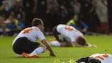 La delusione dei giocatori del Valencia