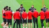 Atlético prepare for Tuesday's quarter-final at the Camp Nou