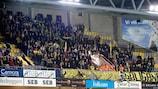 Elfsborg fans cheer their team on