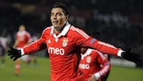 Benfica's Óscar Cardozo has four goals in seven UEFA Europa League appearances this season