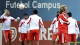 Jorge Jesus presides over Benfica's final training session before the second leg