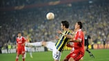 Action from Fenerbahçe's 1-0 first-leg win