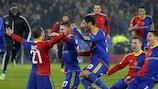 Basel celebrate reaching the semi-finals