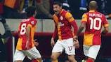 Burak Yılmaz, autor del 1-0 para el Galatasaray