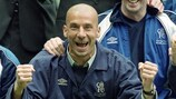 Gianluca Vialli celebrates winning the FA Cup with Chelsea in 2000