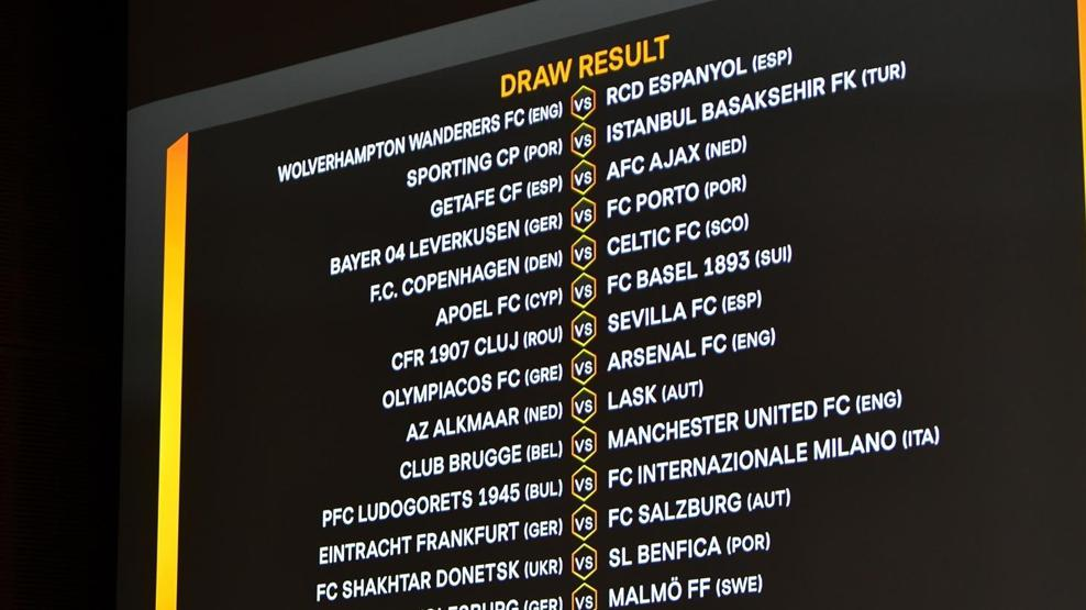 europa league round of 32 draw who will face who uefa europa league uefa com europa league round of 32 draw who