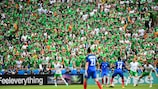 Fans watching France vs Republic of Ireland in Lyon at EURO 2016