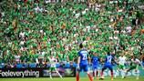 I tifosi assistono alla partita di Lione tra Francia e Repubblica d'Irlanda a EURO 2016