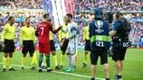 Криштиану Роналду и Юго Льорис перед финалом ЕВРО-2016
