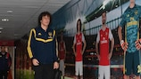 David Luiz arrives ahead of the Olympiacos decider