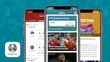 Siga o UEFA EURO 2020 na nossa app oficial