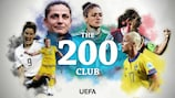 Sei calciatrici europee hanno giocato oltre 200 partite con la propria nazionale