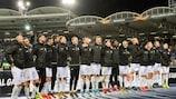 Der LASK feiert den Sieg gegen Alkmaar