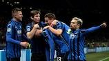 A Atalanta é o oitavo clube na era da UEFA Champions League a alcançar os quartos-de-final na sua época de estreia
