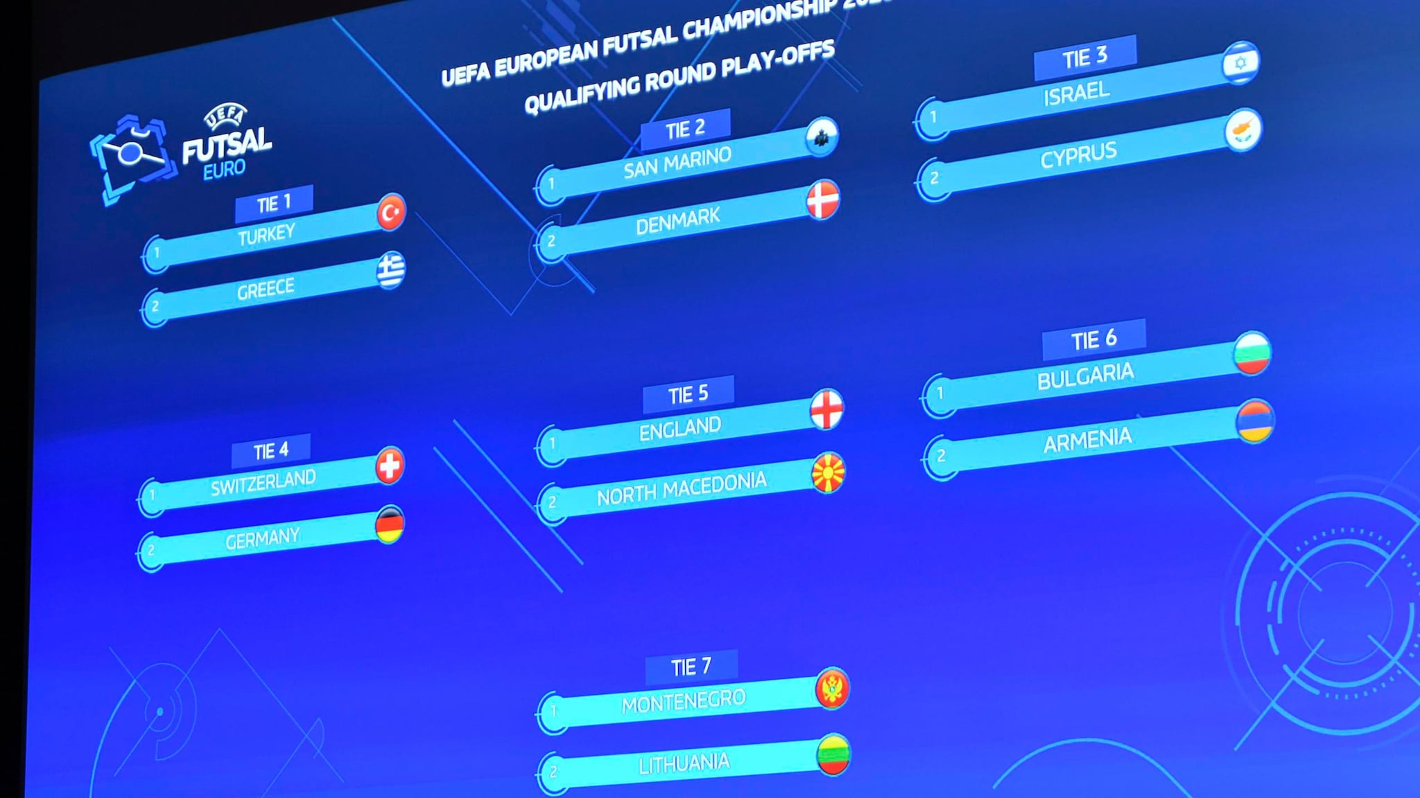 Qualifying round play-offs from Monday