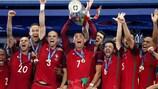 Portugal celebra a vitória na final do EURO 2016