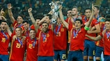 Spain lift the cup for a record-equalling fifth time