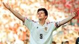 Davor Šuker, delantero de Croacia, brilló en la EURO de 1996